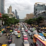 Crossing a Busy Bangkok Street